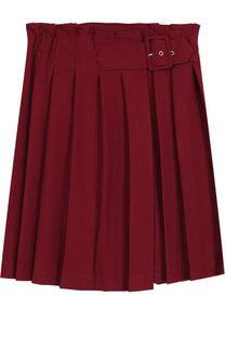 Плиссированная юбка с запахом Aletta