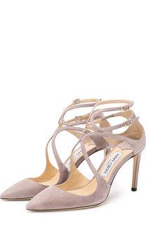 Замшевые туфли Lancer 85 на шпильке Jimmy Choo