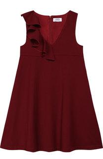 Расклешенное платье с оборкой Aletta