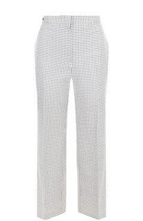 Расклешенные шерстяные брюки в клетку Fendi