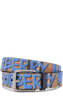 Кожаный ремень с принтом Burberry
