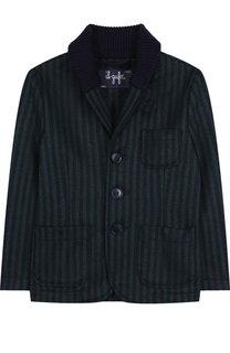 Шерстяной однобортный пиджак с шалевым воротником Il Gufo