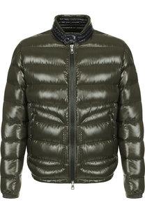 Утепленная куртка Aubert на молнии с капюшоном Moncler