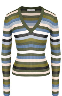 Пуловер с V-образным вырезом в полоску Altuzarra