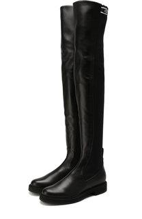 Кожаные ботфорты с эластичной вставкой Fendi