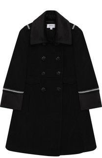 Двубортное пальто из шерсти с декоративной отделкой Aletta