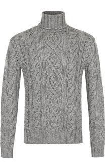 Кашемировый свитер фактурной вязки с воротником-стойкой Ralph Lauren