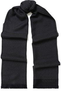 Шерстяной шарф с бахромой Canali