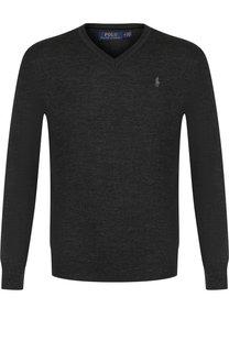 Шерстяной пуловер тонкой вязки Polo Ralph Lauren