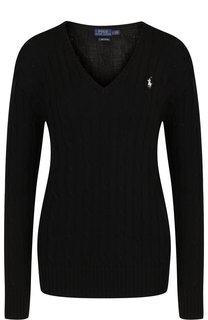 Вязаный хлопковый пуловер с V-образным вырезом Polo Ralph Lauren