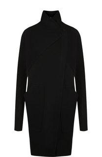 Однотонное хлопковое пальто с воротником-стойкой Roque
