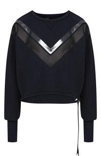 Хлопковый пуловер с круглым вырезом и декоративной отделкой Roque