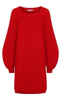 Удлиненный шерстяной пуловер с разрезами Stella McCartney