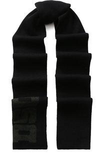 Шерстяной шарф с логотипом бренда Dsquared2