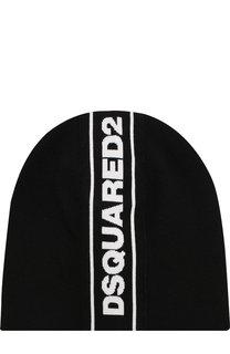Шапка с логотипом бренда Dsquared2