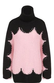 Вязаный шерстяной пуловер с воротником-стойкой Valentino