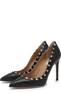 Кожаные туфли Valentino Garavani Rockstud на шпильке Valentino