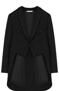 Шерстяной пиджак с длинными фалдами Dolce & Gabbana