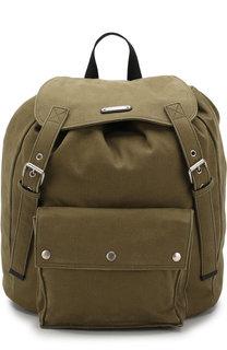 Текстильный рюкзак с накладным карманом Saint Laurent