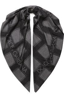 Кашемировый шарф с логотипом бренда Dolce & Gabbana