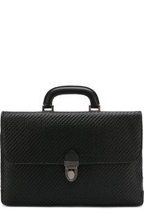 Кожаный портфель с клапаном Ermenegildo Zegna