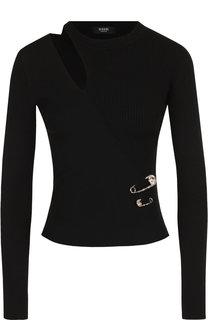 Вязаный пуловер с декоративным разрезом Versus Versace