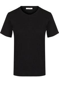 Однотонная хлопковая футболка с круглым вырезом The Row