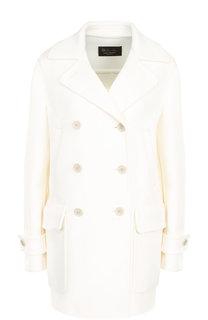 Однотонное кашемировое пальто с накладными карманами Loro Piana