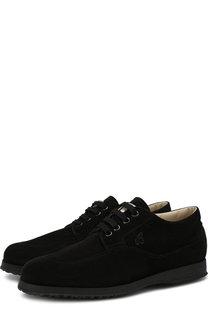 Замшевые ботинки Traditional на шнуровке Hogan