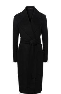 Однотонное пальто из смеси шерсти и кашемира с поясом Acne Studios