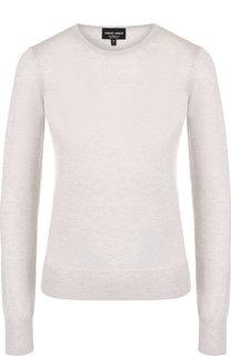 Однотонный кашемировый пуловер с круглым вырезом Giorgio Armani