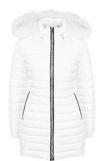 Стеганая куртка на молнии с капюшоном Emporio Armani