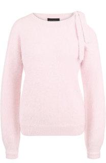 Шерстяной пуловер с открытым плечом Emporio Armani