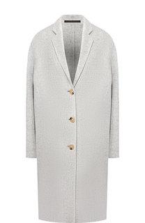 Однотонное пальто из смеси шерсти и кашемира Acne Studios