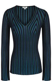 Вязаный пуловер с V-образным вырезом Kenzo
