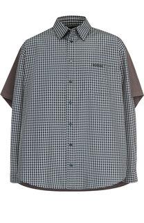 Хлопковая рубашка свободного кроя Balenciaga