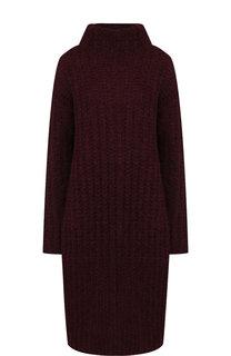 Удлиненный шерстяной пуловер с высоким воротником Valentino