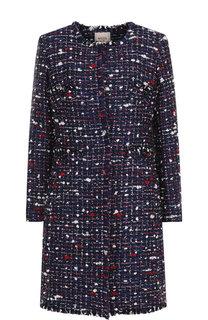 Вязаное пальто из смеси шерсти и хлопка с бахромой Weill