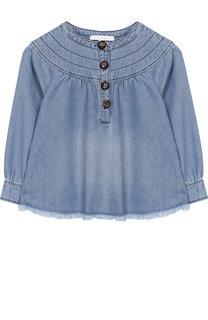 Хлопковая блуза свободного кроя Chloé