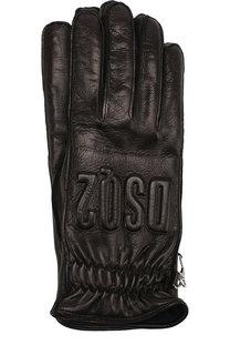 Кожаные перчатки Dsquared2