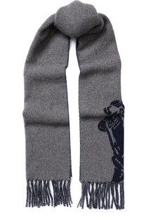 Шерстяной шарф с принтом Polo Ralph Lauren