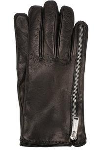 Кожаные перчатки с декоративной молнией Dsquared2