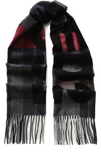 Шерстяной шарф в клетку Dsquared2