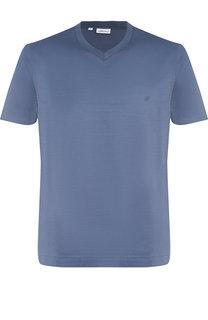 Хлопковая футболка с V-образным вырезом Brioni