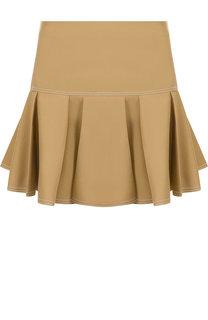 Однотонная мини-юбка с контрастной прострочкой Chloé