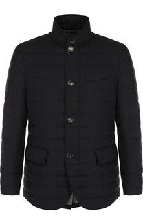 Шерстяная стеганая куртка на пуговицах Ermenegildo Zegna