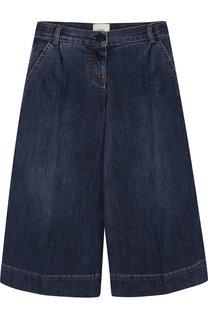 Укороченные джинсы свободного кроя Fendi