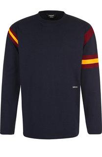 Хлопковый пуловер с логотипом бренда CALVIN KLEIN 205W39NYC