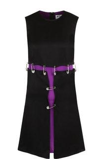 Мини-платье с декоративной отделкой Versus Versace