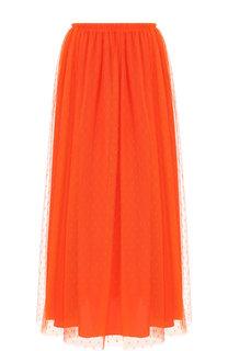 Однотонная юбка-миди с эластичным поясом REDVALENTINO